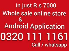 whole sale online store ecommerce website android application Rs 7000