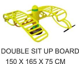 Double Sit Up Board Alat Fitness Outdoor Garansi 1 Tahun
