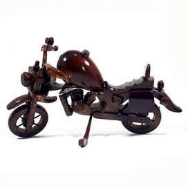 Kerajinan Kayu Jati Miniatur Motor Harley