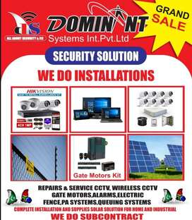 All About Security, CCTV, Electric fence, intercom, gate motor, Solar