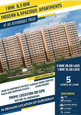 Booking start 1 & 3 BHK affordable housing project sector 70 Gurgaon