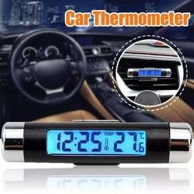 Jam digital-thermometer clock-suhu waktu