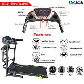 Tiga fungsi Treadmill ELektrik TOTAL 246 new