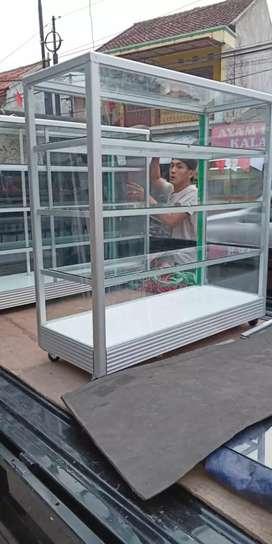 toko etalase aluminium ukuran custom siap di order
