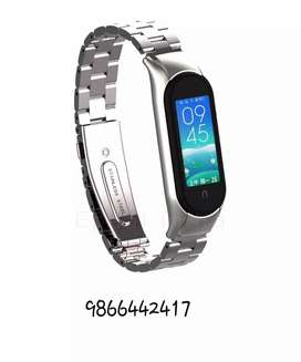 MI band 5 strap ( metal strap silver , rubber strap black,white & grey