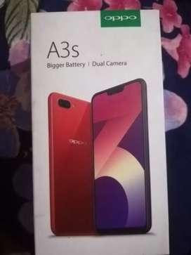 Oppo a3s 2gb ram aur 16 gb rom with box and charger