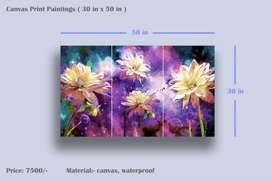 Canvas print paintings