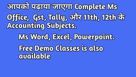 Accounting & Gst, Ms Word, Excel, Powerpoint,Tally