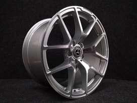 jual velg mobil mercy   am933  ring18x8,5+9,5 5x112  silver polish