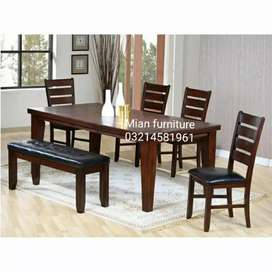 Elegant solid wooden Dining for six persons Code D 08