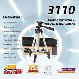 Tripod 3110 original 1meter weifeng free ongkir