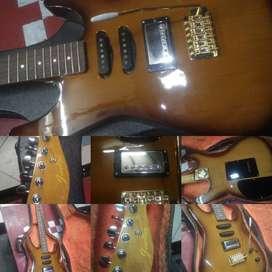 Gitar listrik sederhana jeseline nan manis menawan hati