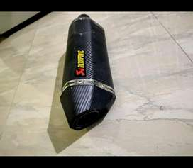 slip on akrapovic exhaust and bend pipe for ns 200