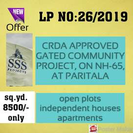 CRDA APPROVED PLOTS AT NEAR TO VJA-HYD NATIONAL HIGHWAY