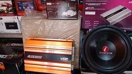 Power 4 chnl Audiobosse+Subwoofeer Intersis+Box sub+Tweter+Psang