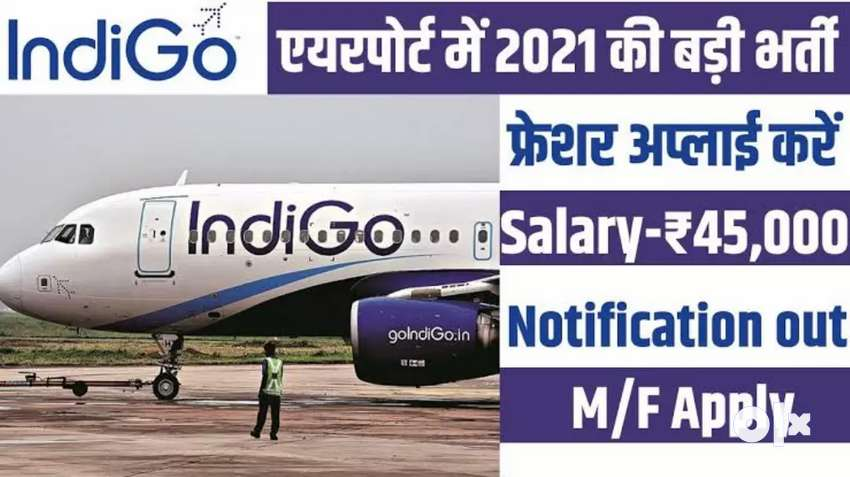 एयरपोर्ट ( बिना इंटरव्यू) डायरेक्ट भर्ती। 10th pass  (goindigo.online) 0