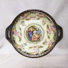 piring mangkuk keramik antik eropa tua