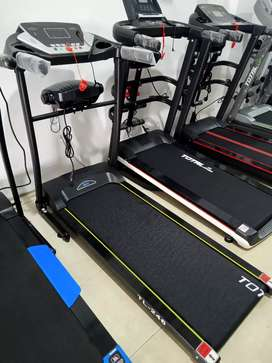 Treadmill listrik + alat getar penghancur lemak Ready bisa COD