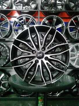 Velg murah ks bugel r15x7 h4x100 et38 on Ford Fiesta freed March swift