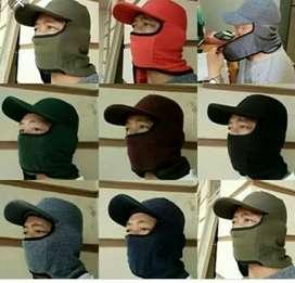 topi masker samping