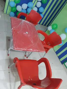 Star moulded Tables and chairs