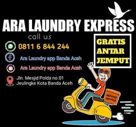 Laundry EXPRESS Gratis Antar-jemput Banda Aceh dan Sekitarnya