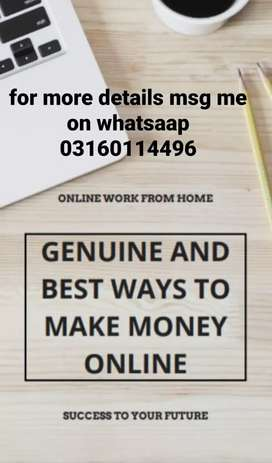 Online homebased without investment work