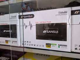 Tv mobil double din Sansui 7inch terbaru full glass anti storing.