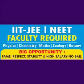 Mathematics and Chemistry faculty required for JEE/NEET