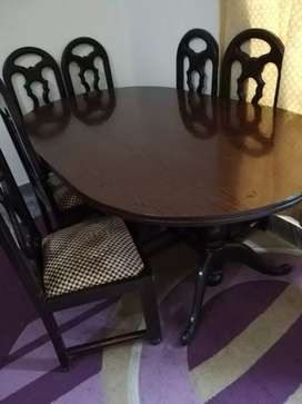 Wood Dining & 6 chairs
