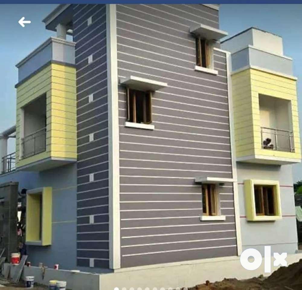 3 bhk individual house sale west tambaram, near mudichur bud 48 laks