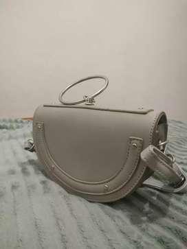 Sling Bag Grey Miniso