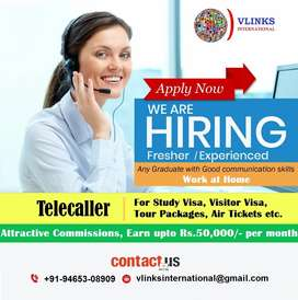 Urgently required female Telecallers on Commission Basis.