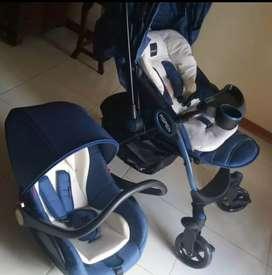 Jual stroller baby elle lengkap masih baru