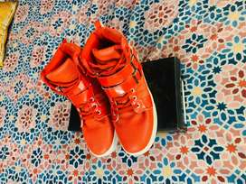 Beautiful high top Shoes red Color
