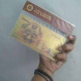 Uang Barong Indonesia Certificate of Authenticity GOLD BANKNOTE