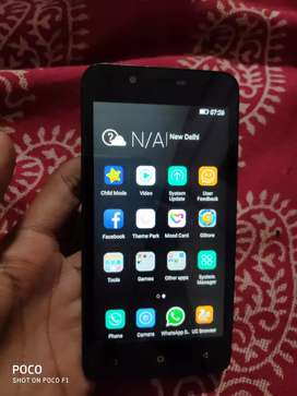good condition gionee 3g mobile with 1gb ram 4.5 inch disply