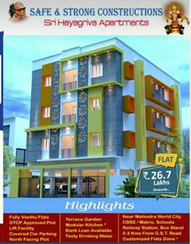 On Road, New 2BHK Flats - 25 Lacs, Sale in Chengalpet nr Mahindra City