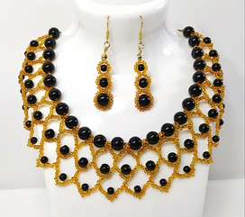 Pearl beaded Necklace set 20% off