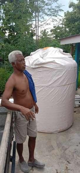 Karangmojo tandon air 3000 toren 1000 bahan plastik tebal