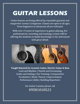 GUITAR LESSONS HYDERABAD ONLINE CLASSES