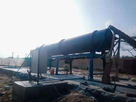 Heavy duty Rotary dryer and Scrap Crusher Machine