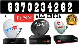 AIRTEL, VIDEOCON D2H, DTH CONNECTION, TATA SKY, DISH TV, SMART TV