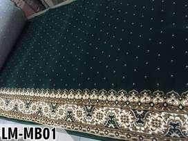 Karpet Masjid Tebal Lokal Grade A Hijau Bintik Bisa Pasang Ditempat