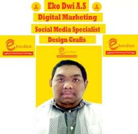 Kursus digital marketing social media specialist desain grafis