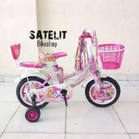 Sepeda Anak Perempuan Legend Little Poni / Unicorn 12 16 18 Inch