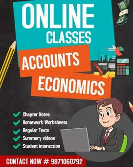 Tutor / Online Tuition / Classes - Accounts, Economics - Class 11 & 12