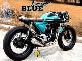 Motor custom japstyle scrambler tiger 200 cc pajak hidup surat lengkap