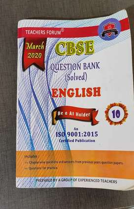 CBSE English question bank
