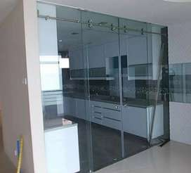 12mm Toughened Glass work,  ACP sheet work, Modular kitchen,Glass work